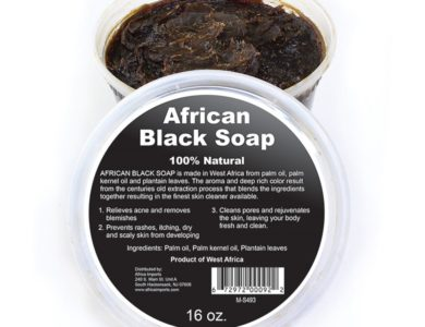 100% Natural African Black Soap for Face